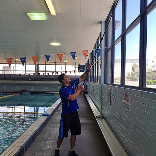 window cleaning at state pool